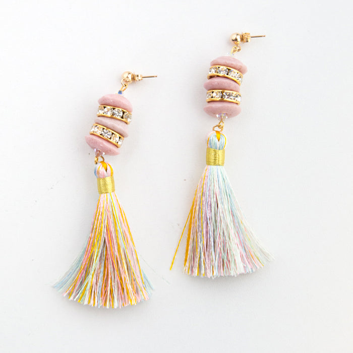 Pagoda Tassel Earrings <br> by SJO Jewelry