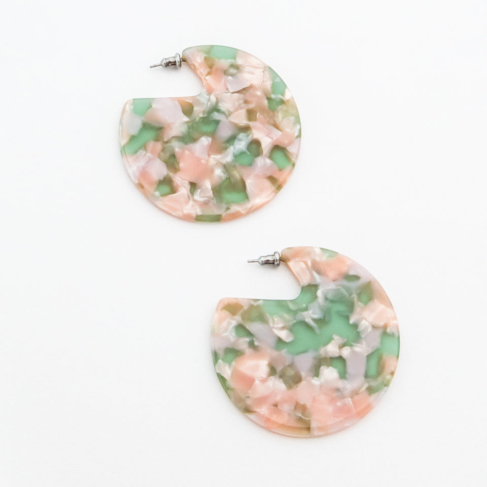 Clare Circle Earrings by Machete