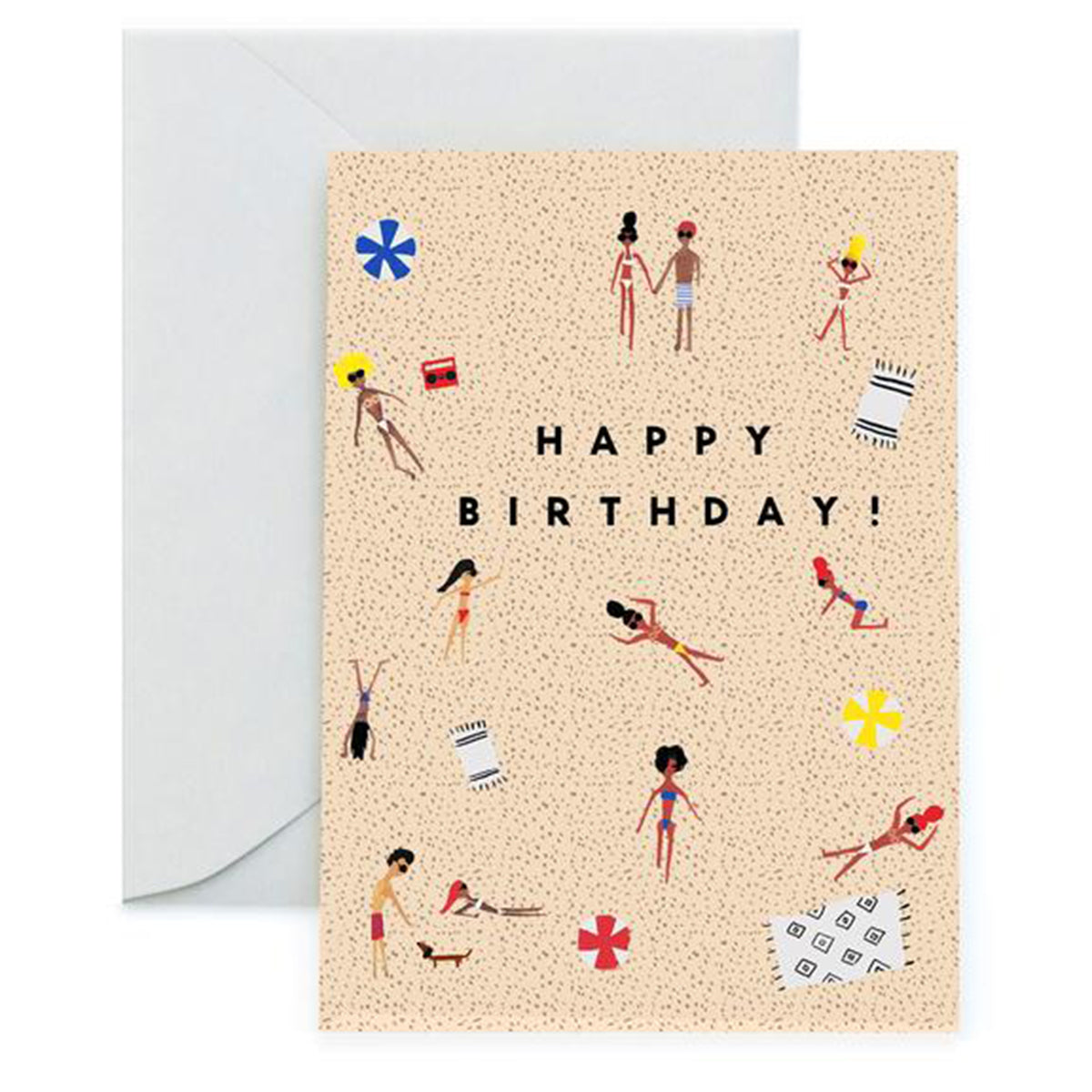Beach Birthday Greeting Card <br> by Carolyn Suzuki