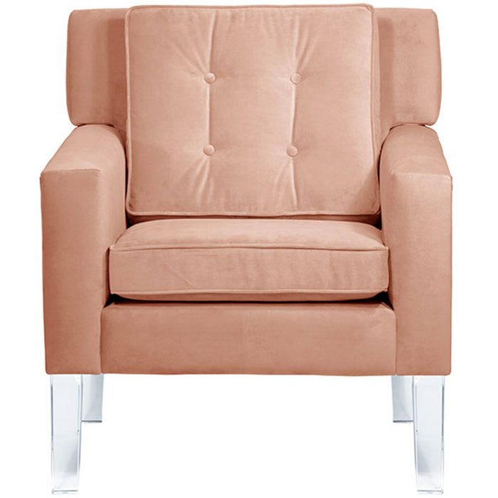Oh Joy! Como Arm Chair <br> Blush Velvet