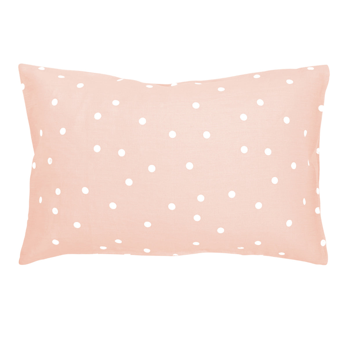 Blush Linen Polkadot Pillowcase by Castle
