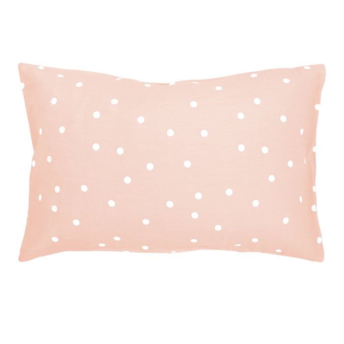 Blush Linen Polkadot Pillowcase<br>by Castle