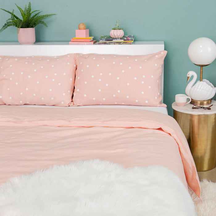 Blush Linen Duvet Cover<br>by Castle