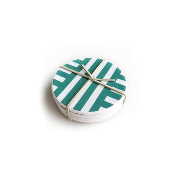 Parker Ceramic Coasters Set of 4  by Xenia Taler