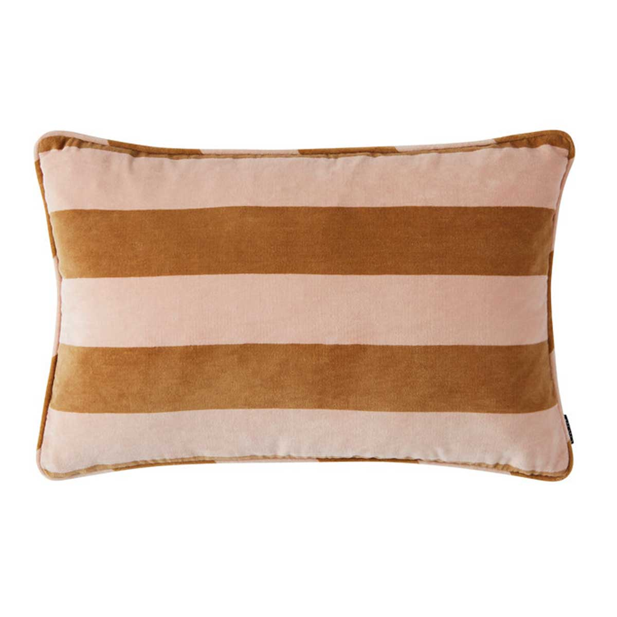 Confection Striped Cushion in Rose and Caramel<br>by OYOY