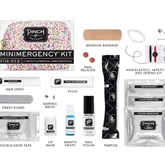 Candy Glitter Confetti Minimergency Kit contents by Pinch Provisions
