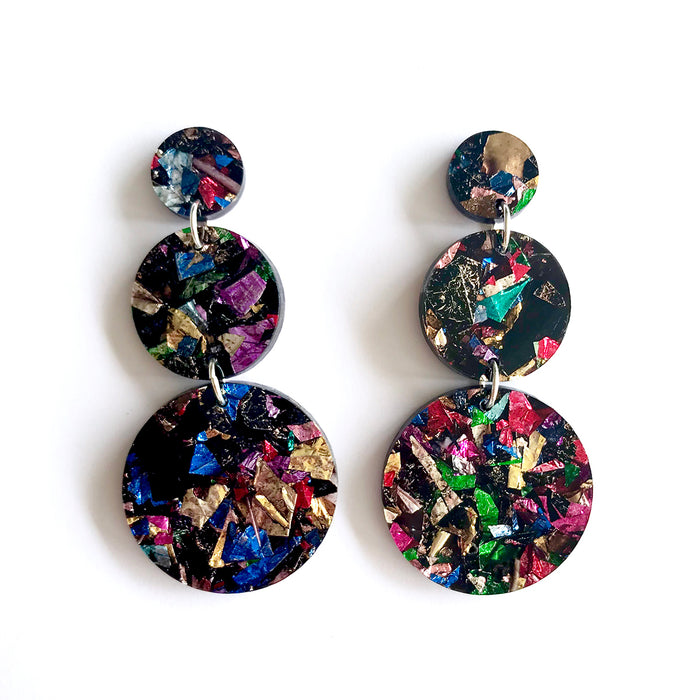 Lush Triple Drop Earrings by Each To Own
