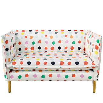 Oh Joy! French Seam Settee <br> Multi Dot