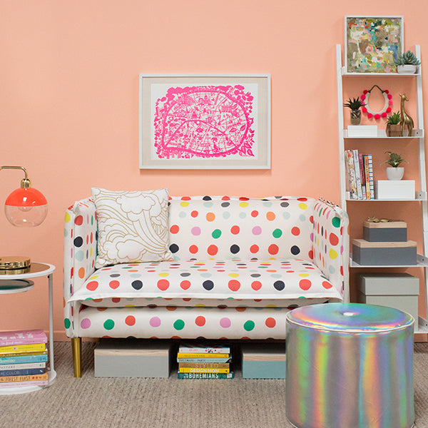 Oh Joy! French Seam Settee Multi Dot