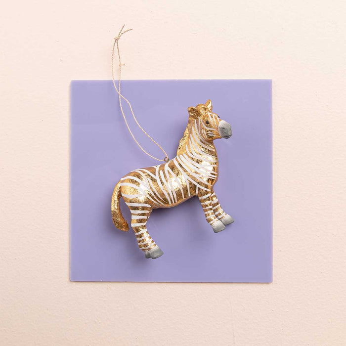 Fantastical Gold Zebra Ornament
