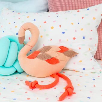 Ringo Flamingo Knit Toy by Meri Meri