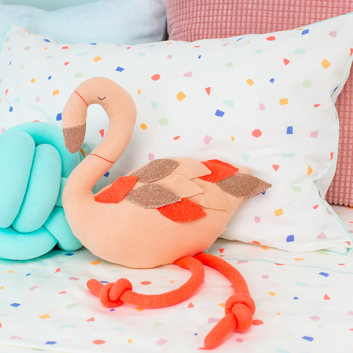 Ringo Flamingo Knit Toy<br>by Meri Meri
