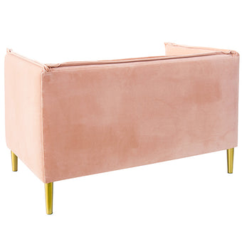 Oh Joy! French Seam Settee <br> Blush Velvet