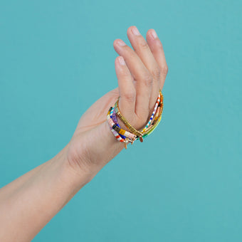 Golden Sunrise Beaded Bracelet<br>by Shashi