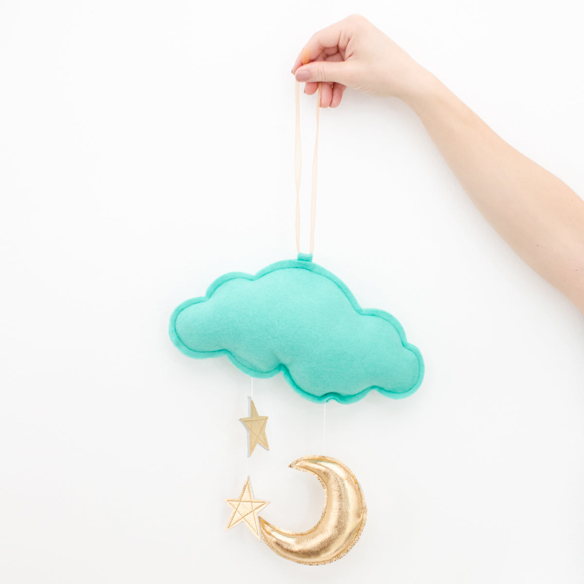 Star Cloud Mobile by Baby Jives - Mint