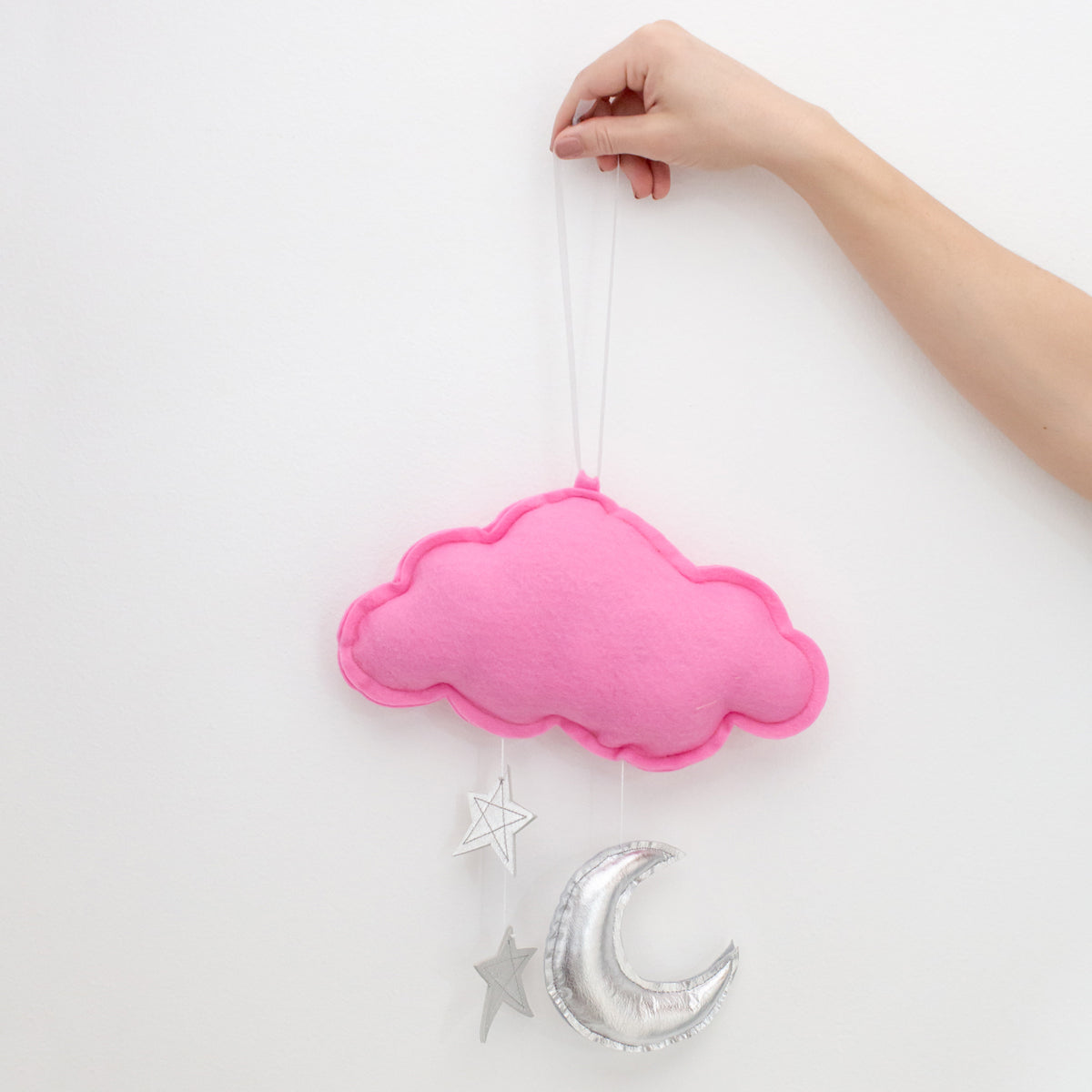 Star Cloud Mobile by Baby Jives - Hot Pink