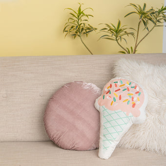 Ice Cream Sprinkles Embroidered Pillow <br> by Oh Joy!