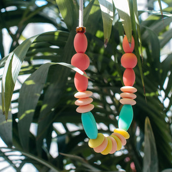 Rainbow Orb Teething Necklace <br> by January Moon
