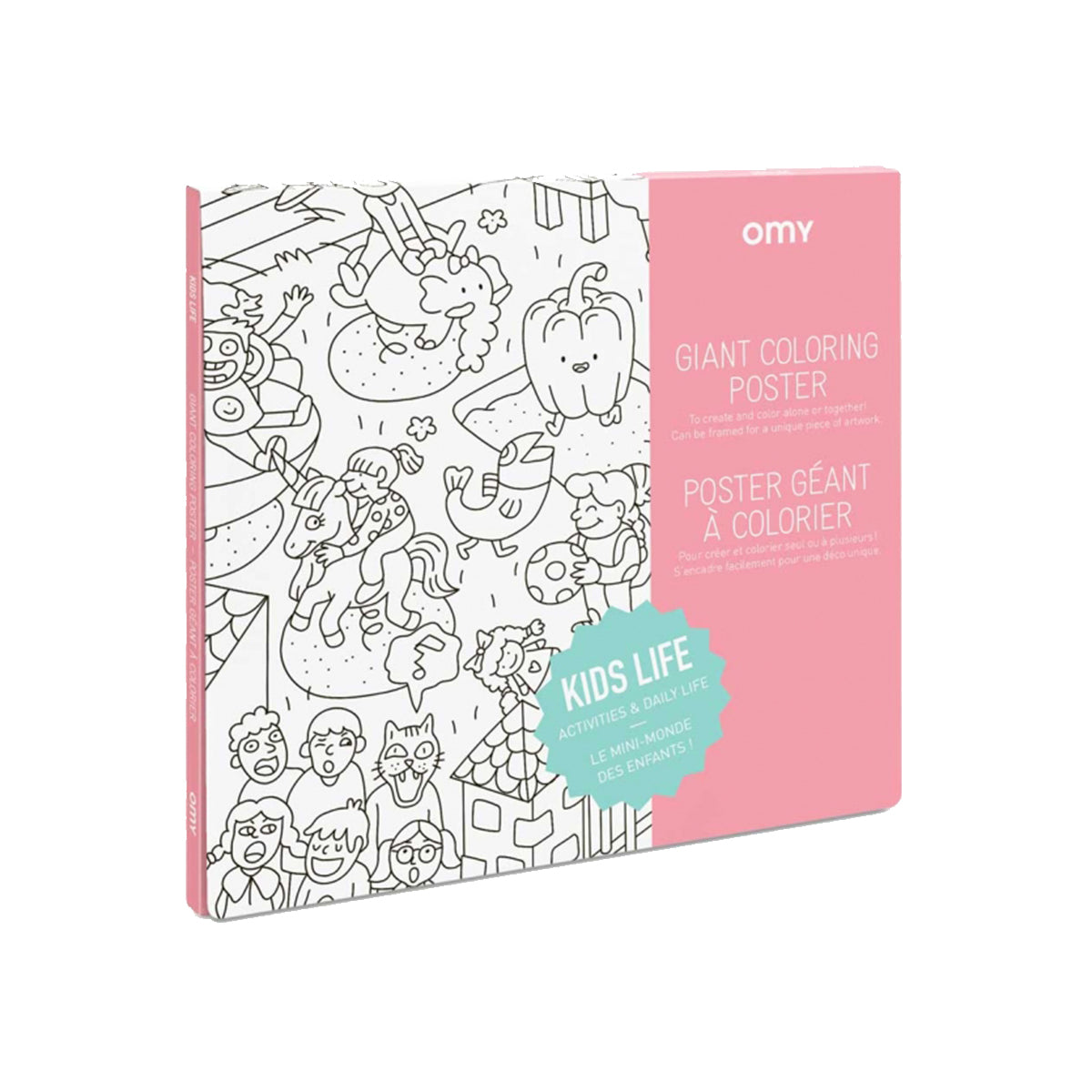 Giant Coloring Poster: Kids Life by Omy