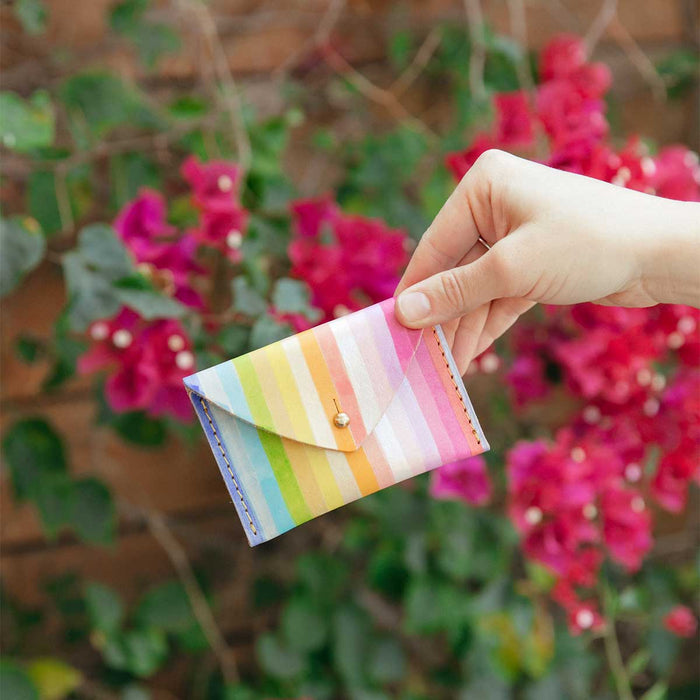 Stripe Rainbow Envelope Wallet<br>by Lillian Farag