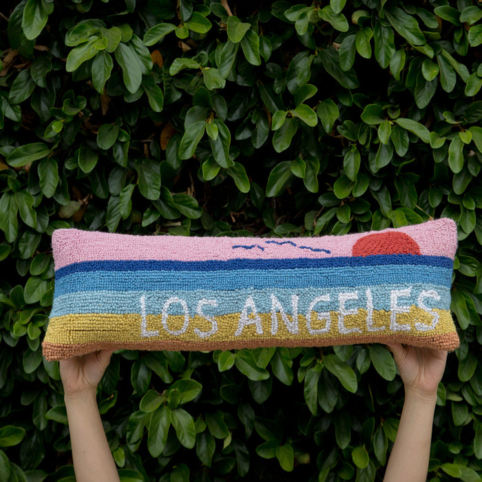 Los Angeles Hook Pillow <br> by Peking Handicraft