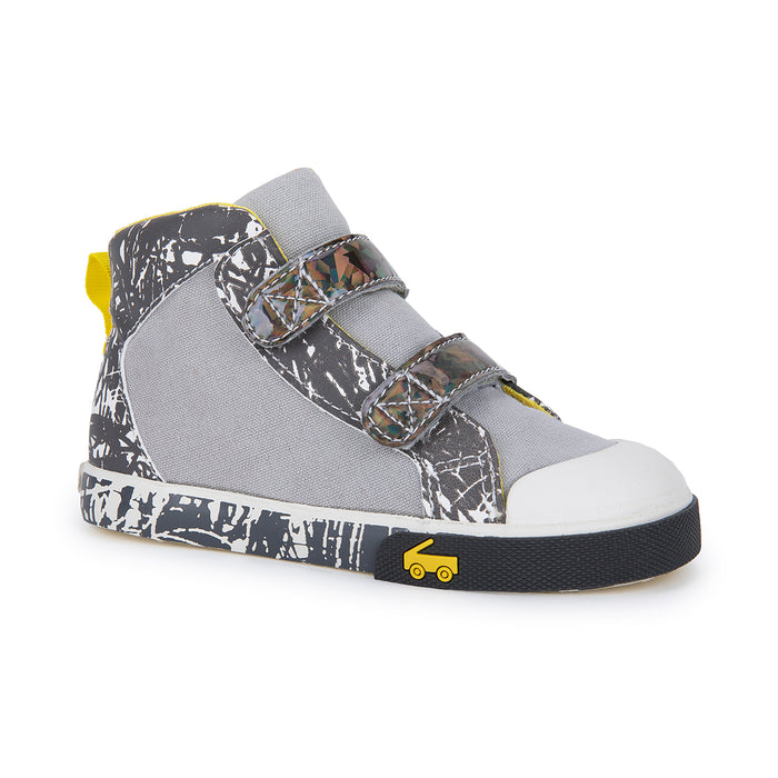 Oh Joy! for See Kai Run Matty High Top Sneaker Skipping Sketch in Grey