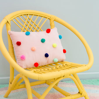 Velvet Pom Pom Pillow by Meri Meri