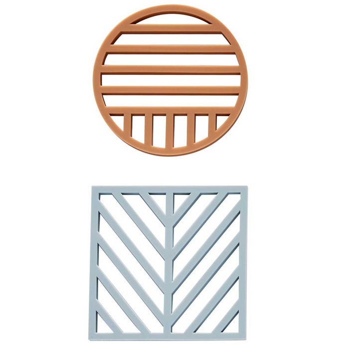 Gotoku Trivet Set in Pale Blue and Caramel<br>by OYOY