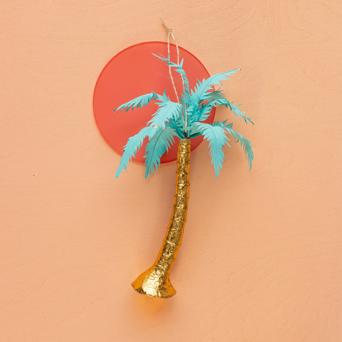 Sparkling Palm Tree Ornament