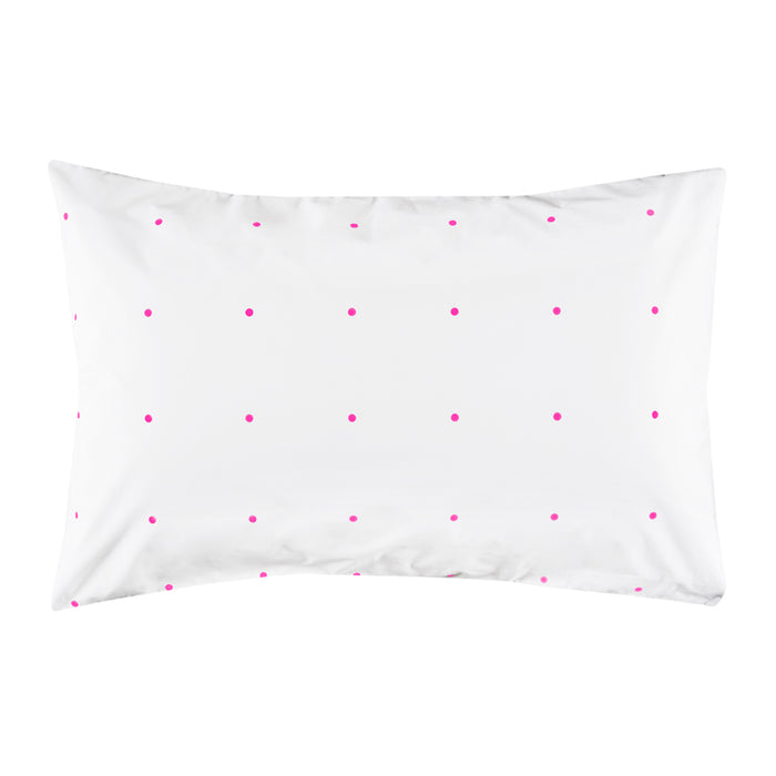 Pegboard Hot Pink Pillowcase by Castle