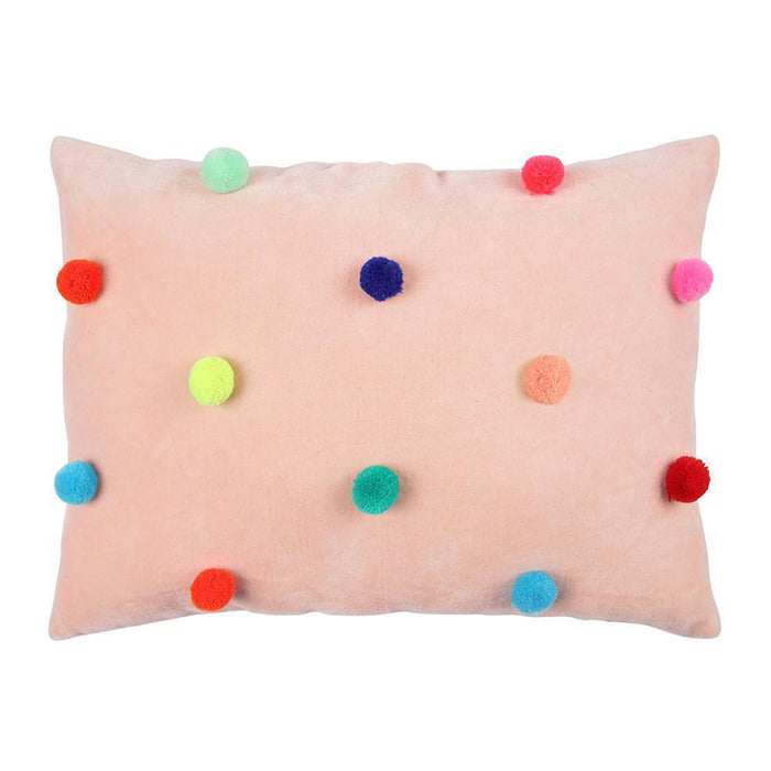 Velvet Pom Pom Pillow<br>by Meri Meri