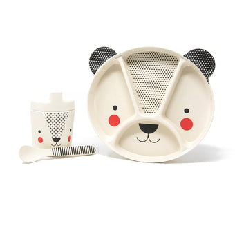 Bamboo Bear Dinnerware 3pc Set <br> by Petit Collage