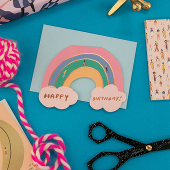Rainbow Birthday Card  by Carolyn Suzuki