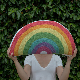 Rainbow Hook Pillow by Peking Handicraft