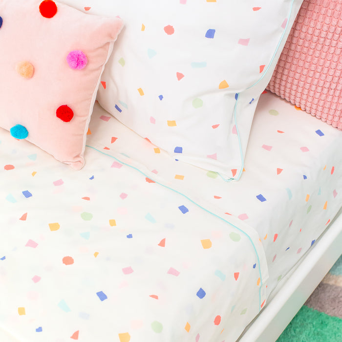 Terrazzo Twin Sheet Set<br>by Meri Meri