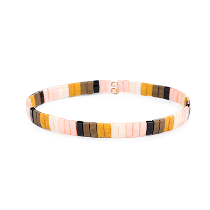 Autumn Sunset Beaded Bracelet<br>by Shashi