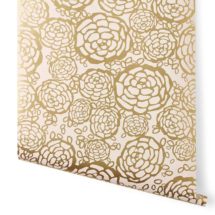 Oh Joy! for Hygge & West Petal Pusher Wallpaper Gold/Blush
