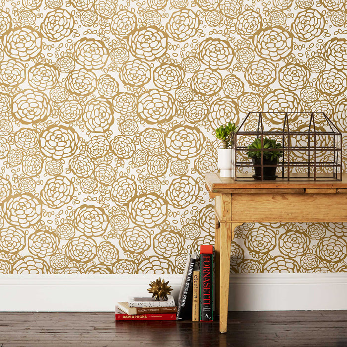 Oh Joy! for Hygge & West Petal Pusher Wallpaper Gold/Off-White