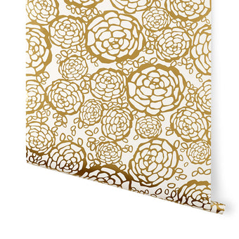 Oh Joy! for Hygge & West<br>Petal Pusher Wallpaper<br>Gold/Off-White