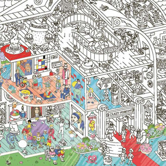 Giant Coloring Poster in Crazy Museum<br>by Omy