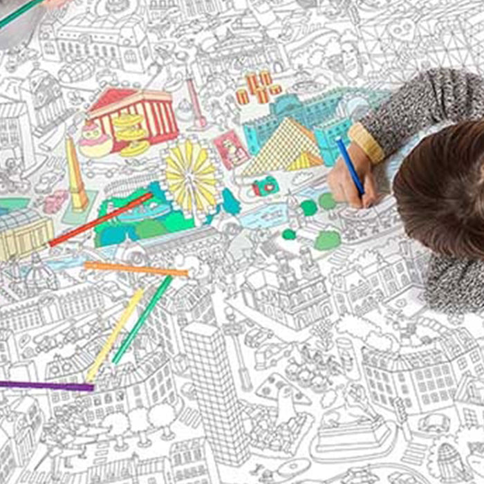 XXL Giant Coloring Roll: Paris<br by Omy