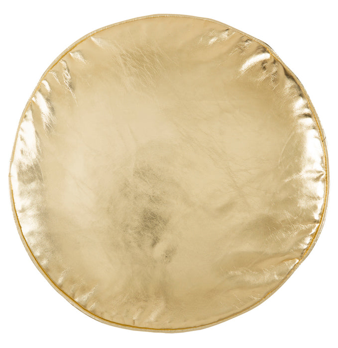 Gold Penny Round Pillow by Castle