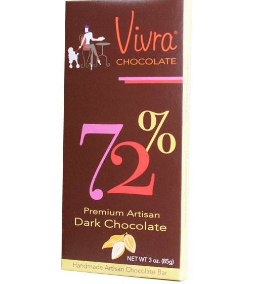 Dark Chocolate 72% Bar