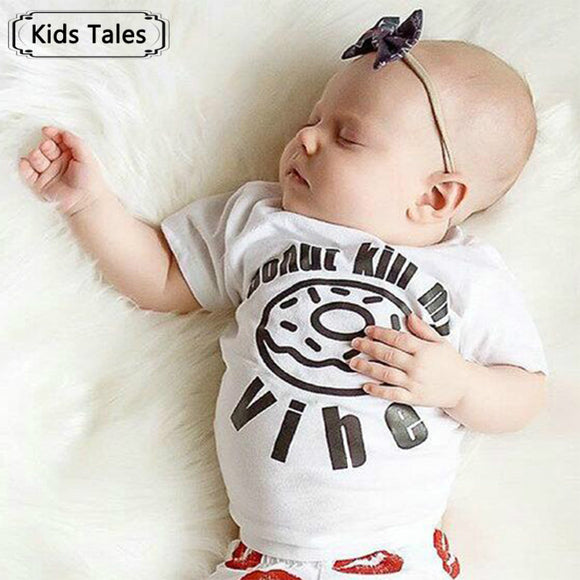 Cotton Newborn Girls Boys T-Shirts With Short Sleeve