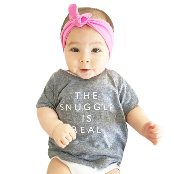 Baby  Cotton Printing T-Shirts The Snuggle is real