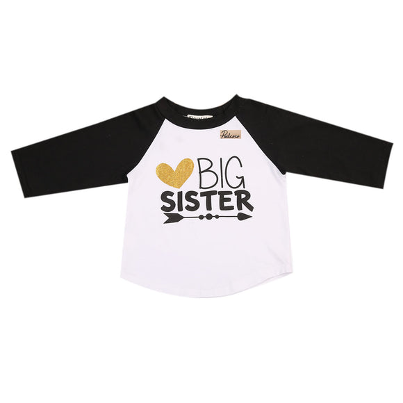 1PCS Letters Baby Boys Girls Kids BIG SISTER Long Sleeve