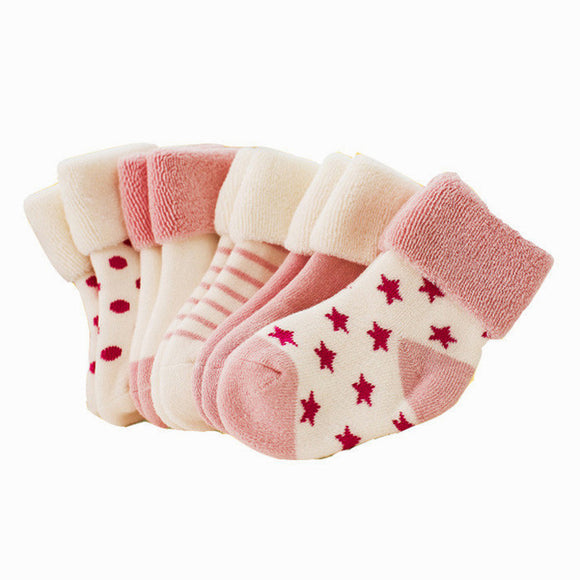 5 pairs/lot Baby Infant Cotton Socks children