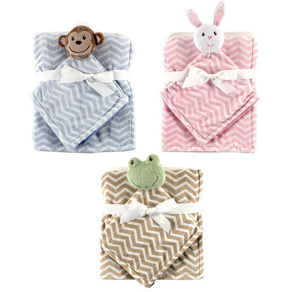 2pcs/set Hudson Baby  Blanket Plush Security Newborn Holds Animal Friend Fleece Blanket Baby Blanket & Swaddling