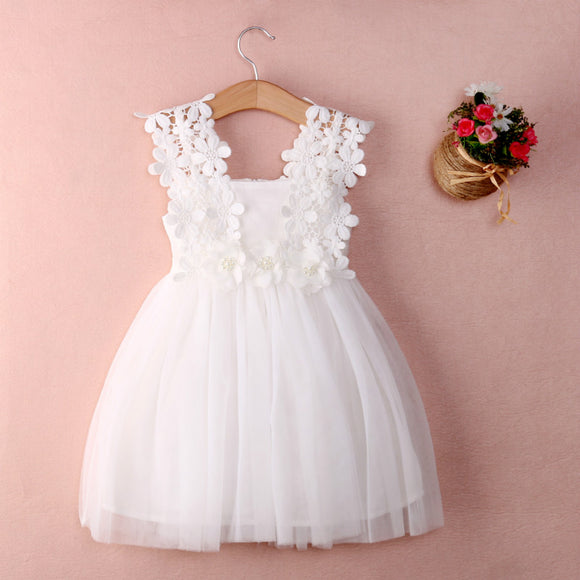 Baby Girls Party Lace Flower Dress