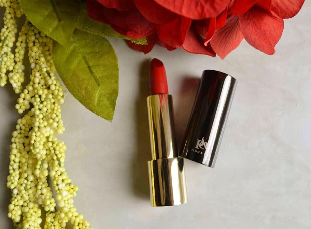 Argentine Red Tango lipstick by Plum & York, makeup for olive to darker skin tones